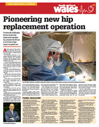 Pioneering new hip replacement operation